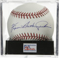 Autographs:Baseballs, Ferguson Arthur Jenkins Single Signed Baseball, PSA Mint+ 9.5.Canadian Hall of Fame full name signature from Fergie Jenkin...