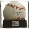 "Autographs:Baseballs, George Kell ""HOF 83"" Single Signed Baseball, PSA Mint+ 9.5.Beautiful sweet spot single from the HOFer who got his shot due..."