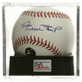 Autographs:Baseballs, Willie Mays Single Signed Baseball, PSA Gem Mint 10. Perfect GemMint example of the Willie Mays single. Sports the hologr...