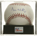 Autographs:Baseballs, Don Mattingly Single Signed Baseball, PSA Gem Mint 10. The brightspot of the 1980s New York Yankees squads has signed this...