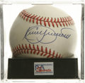 Autographs:Baseballs, Kirby Puckett Single Signed Baseball, PSA Mint 9. A gorgeous sweetspot signature from the Hall of Fame Minnesota Twins sl...