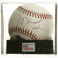 Autographs:Baseballs, Manny Ramirez Single Signed Baseball, PSA Mint 9. Manny Ramirez,2004 WS MVP, gives us this OML ball adorned with an excell...