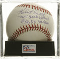 Autographs:Baseballs, Robert Scott Single Signed Baseball, PSA NM-MT+ 8.5. Negro leaguestar Robert Scott has signed the offered OAL (Budig) orb,...