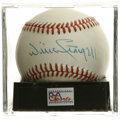 Autographs:Baseballs, Willie Stargell Single Signed Baseball, PSA NM-MT+ 8.5. Greatsingle from Pops. Ball has been encapsulated by PSA/DNA for ...