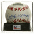 Autographs:Baseballs, Ted Williams Single Signed Baseball, PSA NM+ 7.5. The man with perhaps the sweetest swing in baseball's fine history, Ted W...