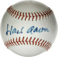 Autographs:Baseballs, Hank Aaron Single Signed Baseball. Beloved Home Run King Hank Aaronhas gracefully applied his Hall of Fame signature to the...
