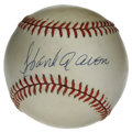 Autographs:Baseballs, Hank Aaron Single Signed Baseball. Despite the uniform toning thatis found on the provided ONL (Feeney) orb, the Hank Aaro...