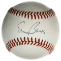 "Autographs:Baseballs, Ernie Banks Single Signed Baseball. Fine single from the man whowas known to say, ""Let's play two!"" Signed on the sweet sp..."