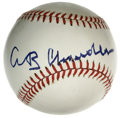 Autographs:Baseballs, Happy Chandler Single Signed Baseball. Booming sharpie signature ismade available here courtesy of Happy Chandler, one if ...