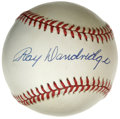 Autographs:Baseballs, Ray Dandridge Single Signed Baseball. Known as one of the premierdefensive third basemen in the game's history, Ray Dandri...