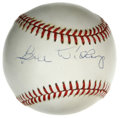 Autographs:Baseballs, Bill Dickey Single Signed Baseball. The famous Yankees back stop isthe subject of the current offering, which puts his HOF...
