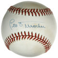 Autographs:Baseballs, Leo Durocher Single Signed Baseball. Leo the Lip's recognizableautograph is made available here, signed on an ONL (Giamatt...