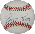 Autographs:Baseballs, Curt Flood Single Signed Baseball. A defensive monster whopatrolled centerfield for the St. Louis Cardinals, Curt Flood is...