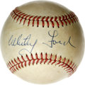 Autographs:Baseballs, Whitey Ford Single signed Baseball. Among the most clutchpostseason pitchers in the history of the game, Whitey Fordenjoy...