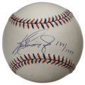 Autographs:Baseballs, Ken Griffey, Jr. Single Signed Baseball. Signed on an officialAll-Star baseball from the 1997 edition of the matchup playe...