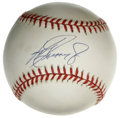 Autographs:Baseballs, Ken Griffey, Jr. Single Signed Baseball. Believed to have one ofthe most effortless and beautiful swings since the great J...