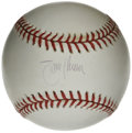 Autographs:Baseballs, Randy Johnson Single Signed Baseball. The Big Unit Randy Johnsonhas offered his signature, which appears on the sweet spot...