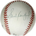 Autographs:Baseballs, Sandy Koufax Single Signed Baseball. Brilliant side panel signature from the Hall of Fame lefty hurler Sandy Koufax appears...