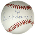 Autographs:Baseballs, Buck Leonard Single Signed Baseball. One of the cogs that made theNegro League Homestead Grays among the most formidable s...