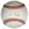 Autographs:Baseballs, Al Lopez Single Signed Baseball. While he served as a fully capablecatcher during his playing days, Al Lopez made his mark...