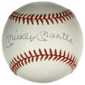 Autographs:Baseballs, Mickey Mantle Single Signed Baseball. Nice example of the coveted Mantle single is made available here. LOA from PSA/DNA....