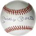 Autographs:Baseballs, Mickey Mantle Single Signed Baseball. Fine example of the covetedMickey Mantle single, with the signature perfectly applie...