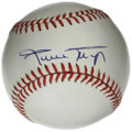 Autographs:Baseballs, Willie Mays Single Signed Baseball. Regarded as one of the mostcomplete five-tool players to ever play the game, Willie Ma...