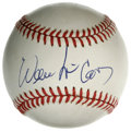 Autographs:Baseballs, Willie McCovey Single Signed Baseball. The clean ONL (White) orbthat we see here has been signed in 10/10 blue ink by HOF ...