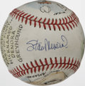 Autographs:Baseballs, Stan Musial Single Signed Art Baseball. Unique single focusing onStan the Man Musial has been adorned by hand-painted art ...