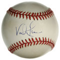 Autographs:Baseballs, Vada Pinson Single Signed Baseball. The versatile Vada Pinsonproved that his call up to the majors was no fluke when he co...