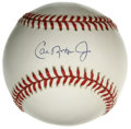 Autographs:Baseballs, Cal Ripken. Jr. Single Signed Baseball. Though known most for hisconsecutive games streak, Cal Ripken, Jr. was one of the ...