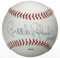 "Autographs:Baseballs, Brooks Robinson ""HOF 83"" Single Signed Baseball. Nice sweet spotapplication of the legendary third baseman Brooks Robinson..."
