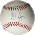 Autographs:Baseballs, Nolan Ryan Single Signed Baseball. Hall of Fame flamethrower NolanRyan holds the strikeout record by more than 1,000 Ks, a...
