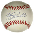 Autographs:Baseballs, Mike Schmidt Single Signed Baseball. Known as the best all-aroundthird baseman of all-time, it was easy to see very early ...