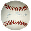 Autographs:Baseballs, Joe Sewell Single Signed Baseball. Little Joe Sewell was known asone of the premier contact hitters of his day, splitting ...