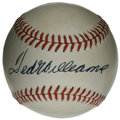 Autographs:Baseballs, Ted Williams Single Signed Baseball. Splendid example of TedWilliams' highly desirable signature appears here on the sweet...