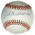 Autographs:Baseballs, Ted Williams Single Signed Baseball. Absolutely Splendid example ofthe Red Sox master Ted Williams' coveted signature appe...