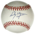Autographs:Baseballs, Early Wynn Single Signed Baseball. Perfect blue ink signature fromHall of Fame hurler Early Wynn. LOA from PSA/DNA....