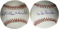 Autographs:Baseballs, Duke Snider and Robert William Andrew Feller Single SignedBaseballs Lot of 2. Each of the pristine OML orbs that we see he...(Total: 2 )