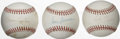 Autographs:Baseballs, Baseball Hall of Fame Pitchers Single Signed Baseballs Lot of 3.Three fine Hall of Fame orbs are made available here, each...