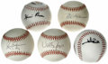 Autographs:Baseballs, Los Angeles/California Angels Stars Single Signed Baseballs Lot of5. Each of the five players who have checked in on an or...