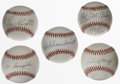 Autographs:Baseballs, St. Louis Cardinals Stars Single Signed Baseballs Lot of 5. Allfive of the official orbs that make up the current lot have...