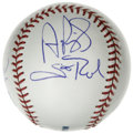 Autographs:Baseballs, S. Louis Cardinals Stars Multi-Signed Baseball. Official MajorLeague baseball that we see here contains four pristine sign...