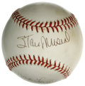 Autographs:Baseballs, Stan Musial and Max Lanier Dual-Signed Baseball. Stan the ManMusial is joined here on the provided ONL (White) orb by a si...