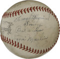 Autographs:Baseballs, Gashouse Gang Multi-Signed Baseball. Considered to be one of thebetter teams that have ever been assembled, the 1934 St. L...