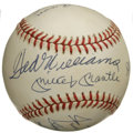 Autographs:Baseballs, 500 Home Run Club Baseball Signed by 11. Eleven impressivesignatures from members of the hallowed 500 Home Run Club popula...