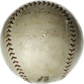 Autographs:Baseballs, 1925 Pittsburgh Pirates World Champion Team Signed Baseball, Signedby Pie Traynor. Tremendous ONL baseball has been signed...