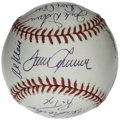 Autographs:Baseballs, 1969 New York Mets Team Signed Reunion Baseball. Signed at a reunion event for the Amazin' Mets of 1969 some time in the la...