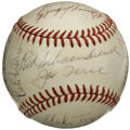 Autographs:Baseballs, 1973 St. Louis Cardinals Team Signed Baseball. Led by HOFer RedSchoendienst, who skippered the squad, the '73 Cardinals su...