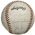 Autographs:Baseballs, 1983 St. Louis Cardinals Team Signed Baseball. Coming off theirlast World Series win before this year's defeat of the Detr...